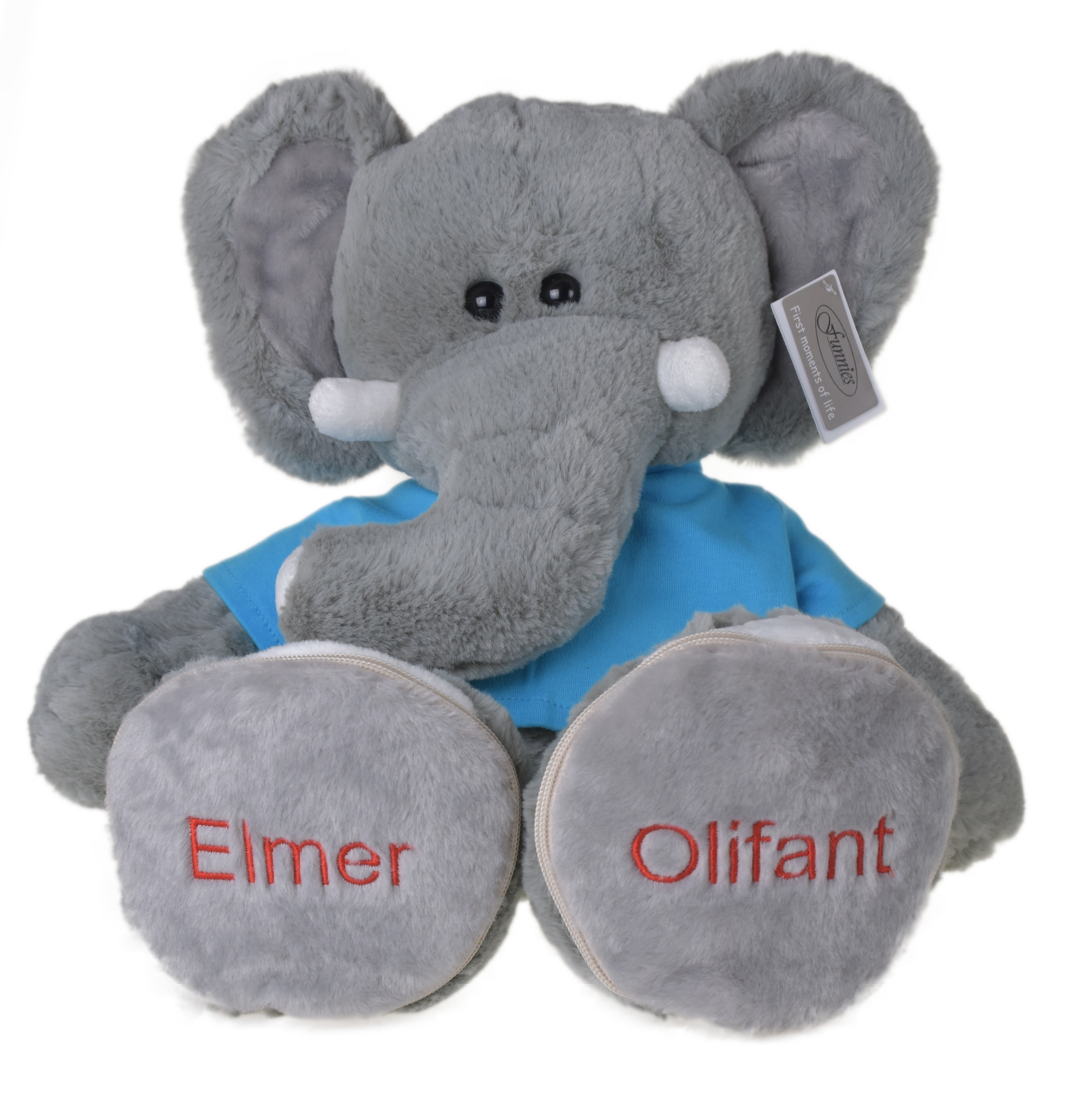 Betere Funnies knuffel olifant (45cm) met afritsbare voetzooltjes QN-86